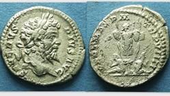 SEPTIMIUS SEVERUS Denarius, RIC 176, Tro...
