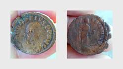 HONORIUS AE2 RIC 68e, GLORIA ROMANORVM
