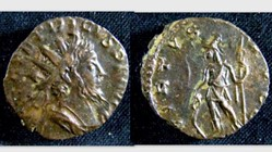 TETRICUS I Antoninianus RIC 148, Virtus
