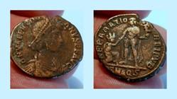 VALENTINIAN II AE2, RIC 30b.2, Reparatio...