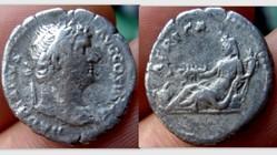 Hadrian Denarius RIC 299, Africa