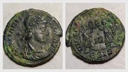 CONSTANTIUS II AE3 RIC VIII 191, Two Vic...