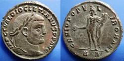 DIOCLETIAN  AE27 Silvered Follis