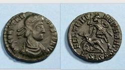 CONSTANTIUS II AE3 RIC VIII 352, Fallen ...
