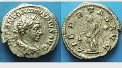 Elagabulus AR Denarius, RIC IV 107, Libe...