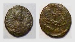 THEODOSIUS I AE4 RIC 451, Cross
