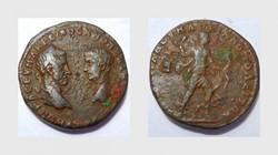 MACRINUS AE 26, Pentassarion of Marciano...