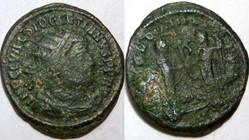 DIOCLETIAN AE 20 RIC VI 15a, Jupiter