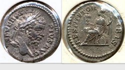 SEPTIMIUS SEVERUS Denarius RIC 288, Roma