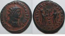 Maximianus AE Antoninianus RIC 622 cresc...