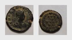 ARCADIUS AE4, RIC 65c, Vota