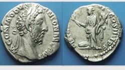 COMMODUS Denarius RIC 86, Commodus as Pa...