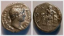 HADRIAN Denarius, RIC 183, Victory