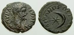 SEPTIMIUS SEVERUS AE16 BMC 17, Crescent ...