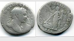 TRAJAN Denarius, RIC 102, Pax