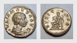 JULIA MAESA Denarius, RIC 268, Pudicitia