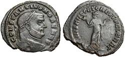 CONSTANTIUS I CHLORUS, AE Follis RIC VI ...