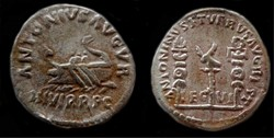 MARCUS ANTHONY RESTITUTION AR Denarius