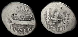 MARCUS ANTONIUS AR Denarius LEG IIII