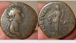 Nerva Dupondius RIC 61, Fortuna