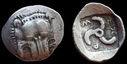 DYNASTS OF LYKIA, MITARAPATA, AR Diobol