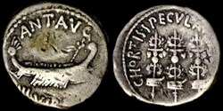 MARCUS ANTONIUS AR Denarius  CHORTIS SPE...