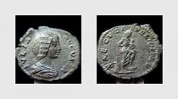 JULIA DOMNA Denarius RIC 577,  Isis