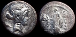 Q. POMPONIUS MUSA, AR Denarius