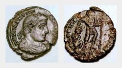 VALENTINIAN I AE3 RIC 9, Gloria Romanoru...