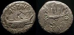 MARCUS ANTONIUS AR Denarius LEG XI