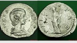 JULIA DOMNA Denarius RIC 551, Felicitas