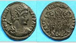 CONSTANTIUS II AE4 RIC VIII 102, GLORIA ...