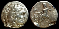 LYSIMACHUS KING OF THRACIA AR Drachm