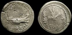MARCUS ANTONIUS AR Denarius   LEG V