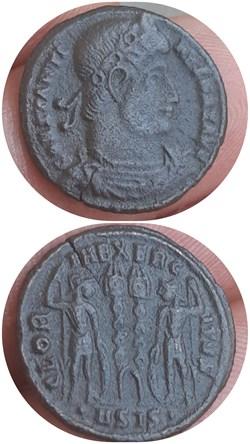 Nummus de constantin gloria exercitus