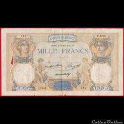 1000 francs Cérès & Mercure