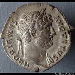 Denier Hadrien - Rome RIC. 173