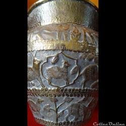 Bassin cuivre - Calligraphie islamique i...