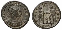 AURELIAN RIC TEMP 2693 - UNICUM!