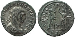 PROBUS RIC 844 A2 BUST OFFICINA 1 RARE
