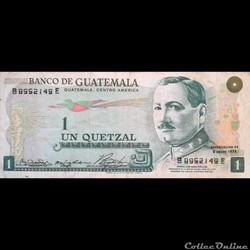 GUATEMALA - P 59 A  - 1 QUETZAL - 1972