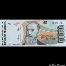 ARGENTINE - P 335 (2) - 50.000 PESOS - 1...