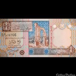 LIBYE - P 62 - 1/4 DINAR - 2002