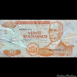 BOLIVIE - P 239A - 20 BOLIVIANOS - 2013