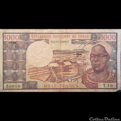 CONGO - P 003 - 1000 FRANCS - 1983
