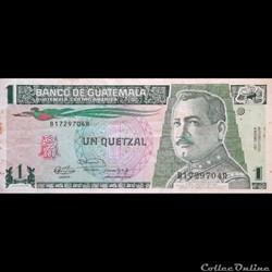 GUATEMALA - P 73 B - 1 QUETZAL - 1991