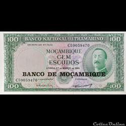 MOZAMBIQUE - P 117 - 100 ESCUDOS - 1961 ...
