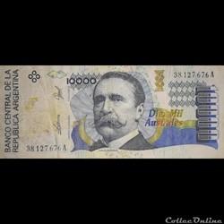 ARGENTINE - P 334 A (1) - 10.000 AUSTRALES - 1989