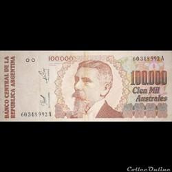 ARGENTINE - P 336 - 100.000 AUSTRALES - ...