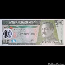 GUATEMALA - P 115 D - 1 QUETZAL - 2012